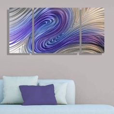 Modern Abstract Metal Wall Art Painting Home Decor - Turbulence III by Jon Allen #Handmade