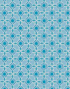 Star Tile Wallpaper - Turquoise
