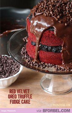 Love this red velvet cake recipe? My readers also enjoy my Red Velvet Oreo Truffle Bars and my Red Velvet Fudge Pie! One of my favorite recipes + desserts are my Red Velvet Oreo Truffle Brownie Bars Cupcakes, Cupcake Cakes, Oreo Truffles, Chocolate Truffles, Chocolate Fudge, Chocolate Cakes, White Chocolate, Oreo Cookies, Truffles Recipe