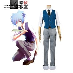 ==> [Free Shipping] Buy Best Free Shipping Assassination Classroom Class 3-E Nagisa Shiota Suit adult costume Cosplay Costume Online with LOWEST Price | 32713880915