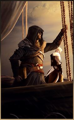Altaïr and Ezio - Assassin's Creed Revelations Asesins Creed, All Assassin's Creed, Video Game Art, Video Games, Arte Assassins Creed, Assassin's Creed Videos, Ezio, Assassin's Creed Wallpaper, Game Art