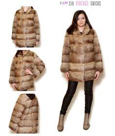 Real Fur Coat 80s Sexy Fur Coat Vintage Fur Brown Fur Short Fur Boho Elegant Vintage Coat Classic Fur Jacket Vintage Clothing Size M/38 by SixVintageChicks on Etsy