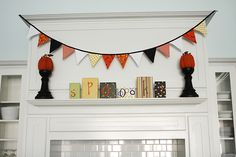 """make blocks that say """"autumn"""" or """"fall""""...banner could be made using autumn colors too"""