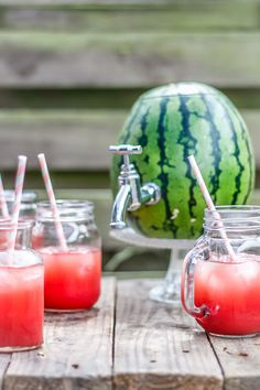 This watermelon keg is so cool for a summer party! Hollow out the watermelon, screw the tap in, blend the watermelon and you are ready to impress your guests. Click here and get the entire guide on how to make a watermelon keg