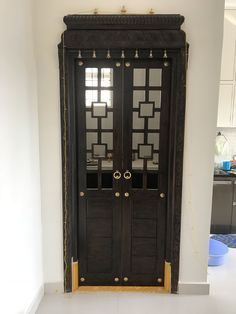 Room Door Living Pooja Rooms Doors Design Crockery Units Puja Simple Designs In Wood Photos With Bells And Glass Plywood Images Pictures For Designs Door Pooja Room Door Designs Pooja Room Door Design, Main Door Design, Design Room, Design Design, Exterior Door Colors, Exterior Design, Mandir Design, Laundry Room Doors, Diy Sliding Barn Door