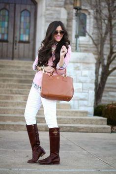 pastel pink sweater layer