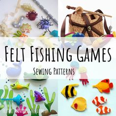 Felt DIY Fishing Games are easy to sew and an awesome way to entertain kids. Sewing Projects For Kids, Crafts For Kids, Fishing Games For Kids, Felt Fish, Ocean Crafts, Foam Crafts, Sewing Toys, Sewing Basics, Felt Toys