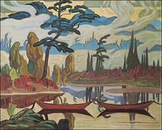 Group of Seven is a very popular group of Canadian artists who painted untouched landscapes all across their beautiful country. Own some of their most famous prints for a reasonable price at the Golden Eagle Art Gallery in Stouffville, Ontario. Tom Thomson, Emily Carr, Group Of Seven Artists, Group Of Seven Paintings, Canadian Painters, Canadian Artists, Landscape Art, Landscape Paintings, Oil Paintings