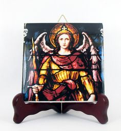Saint Michael the Archangel Ceramic Tile from by TerryTiles2014