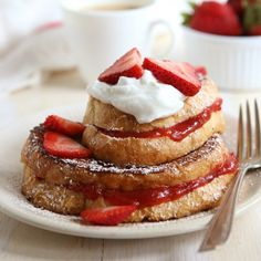 Strawberry Rhubarb French Toast « Go Bold with Butter