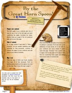 by the great horn spoon book report