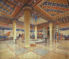 Reconstruction of Mycenae Palace.