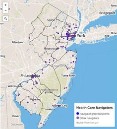 Where to find healthcare navigators in New Jersey.