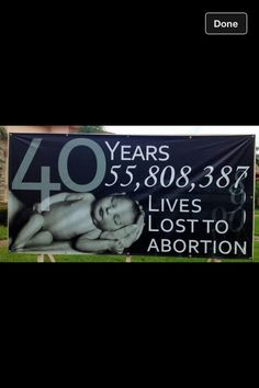 40 years of abortion. That's more human lives lost than in all U.S wars combined.