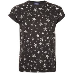 TOPMAN Washed Black Stars T-Shirt ($8.54) ❤ liked on Polyvore featuring men's fashion, men's clothing, men's shirts, men's t-shirts, black, shirts, t shirts, t-shirts, j crew mens shirts and mens print shirts