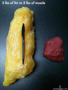 5 lbs of fat vs 5lbs of muscle - that's an eye opener!