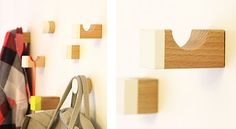 Making wall pegs from toy blocks - nifty! coat hooks...???