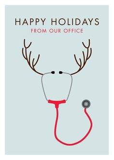 Run a medical clinic? Bring a smile to your patient's faces with a funny depiction of a reindeer made out of a stethoscope. Is it me, or has Rudolph's nose grown since last Christmas?