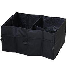 Super UD Coffre de Voiture pour organiseur de coffre 56cm multi-usages pliable tissu Oxford Noir voiture Cargo Étui de rangement pour…