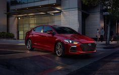 2017 Elantra Sport in Red