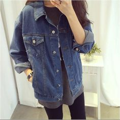 Veste en jean vintage femme