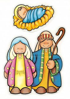 Colorful nativity set