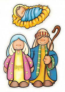 Colorful nativity set