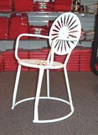 Wisconsin Union Terrace Chairs, winter terrace white or badger red. You can buy the chairs!!