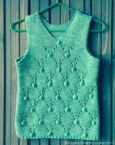 Women's vest making with two bottles - Page 7 of 30 - crochetsample. Lace Knitting Patterns, Knitting Designs, Crochet Blouse, Crochet Top, Summer Knitting, Summer Tops, Crochet Clothes, Knitwear, Clothes For Women