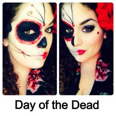 Day of the dead makeup  beautybyjulianna.blogspot.com