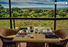 Dine with a view at Lemala Kuria Hills Lodge, Northern Serengeti