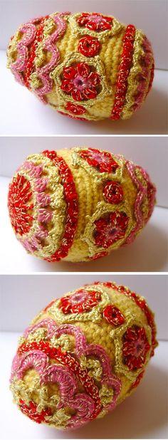 -Crochet Faberge style egg by ~meekssandygirl on deviantART
