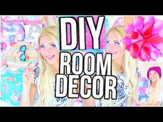 DIY Room Decor Tumblr Inspired! - YouTube