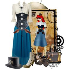 """Ariel - Steampunk - Disney's The Little Mermaid"" by rubytyra on Polyvore"