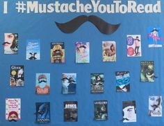 """I <a class=""""pintag searchlink"""" data-query=""""%23MustacheYouToRead"""" data-type=""""hashtag"""" href=""""/search/?q=%23MustacheYouToRead&rs=hashtag"""" title=""""#MustacheYouToRead search Pinterest"""">#MustacheYouToRead</a>  Fun board in our YA area.  :)"""