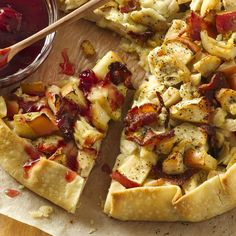 Chicken Blue Cheese Crostata with Spicy Tart Cherry Sauce from Smucker's®