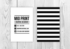 Striped Business Card Design will be resold template by MioPrint
