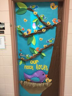 Bird themed classroom door
