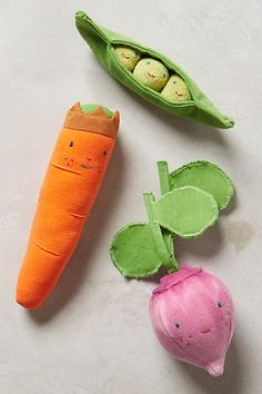 anthropologie baby vegetable rattles...
