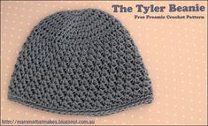 The Tyler Beanie by mammathatmakes.blogspot.com A free preemie crochet pattern