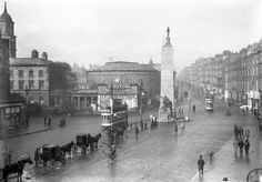 New Living Pictures. Sackville Street and O'Connell Street, Dublin: . Spring 1913 (National Library of Ireland) Old Pictures, Old Photos, Vintage Photos, Vintage Stuff, What Is Europe, Paris Skyline, New York Skyline, The Pleasure Garden, Photo Engraving