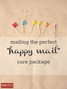 Mailing the Perfect Happy Mail Care Package from MomAdvice.com. Advice & tips for making a care package for someone who is struggling financially.