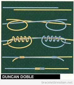 Bracelet, comment réaliser un noeud Duncan                                                                                                                                                     Plus