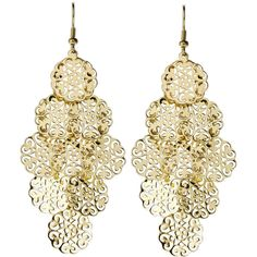 ALEXIA CRAWFORD Gold-Tone Chandelier Earrings ($11) ❤ liked on Polyvore featuring jewelry, earrings, accessories, brinco, joias, cut out jewelry, earrings jewelry, alexia crawford, gold tone earrings and goldtone jewelry