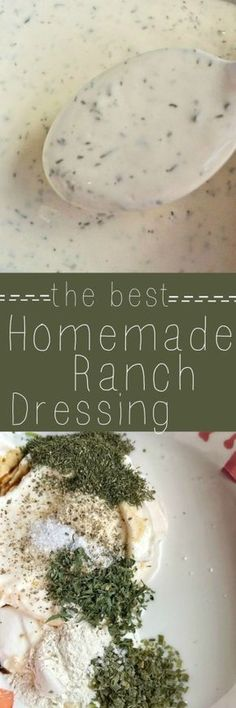 Only a handful of ingredients + 1 minute is all you need to make your ownhomemade ranch dressing. Use it over salads, as a dip, or in any recipe that calls for ranch dressing! This stuff is so easy & delicious!