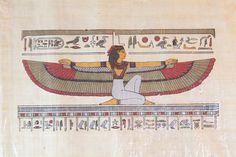 PAPIRO DIOSA ISIS Autentico papiro egipcio con certificado de garantía…