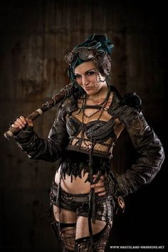 Post Apocalyptic Fashion / Wasteland Warrior / Raider / Survivor / Fallout / Cosplay Photography // ♥ More at: https://www.pinterest.com/lDarkWonderland/