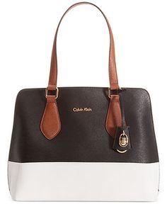 Calvin Klein Modena Saffiano Shopper - Calvin Klein - Handbags & Accessories - Macy's