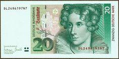 20 Deutsche Mark banknote 1993, Annette von Droste-Hülshoff