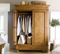 Pottery Barn Belvedere Armoire for Sale Furniture, Home Furnishings, Home Furniture, Furniture Upholstery, Home Decor, Modern Outdoor Furniture, Armoire For Sale, Entry Closet, Bedroom Armoire